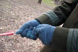 Mr. K Handspun-knit gloves